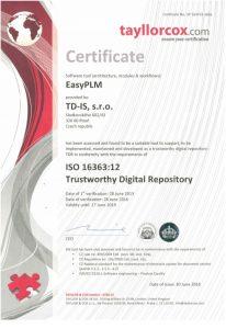 Certifikát Důvěryhodná (digitální) úložiště